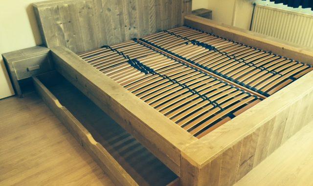 xxl 2 persoonsbed steigerhout
