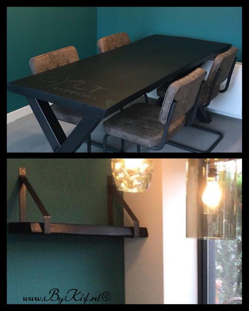 tafel boomstamblad zwart 2